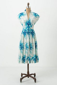 Flared Anabelle Dress #anthropologie.  White dress + fabric paint and I could come really close to this look!