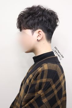 Asian Hair Perm, Asian Hair Undercut, Perm Hair Men, Asian Haircut, Curly Hair Men, Curly Hair Styles, Permed Hairstyles, Boy Hairstyles, Korean Men Hairstyle