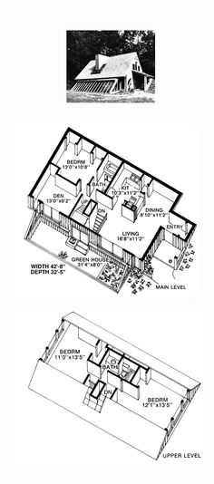 COOL House Plan ID: chp-49397   Total Living Area: 1572 sq. ft., 3 bedrooms and 2 bathrooms. #solarhome