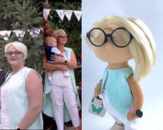 Personalized custom portrait rag doll by photo by OKhandmadeDolls First Love, Dolls, Portrait, Trending Outfits, Handmade Gifts, Baby Dolls, Kid Craft Gifts, First Crush, Headshot Photography