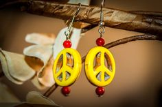 Check out this item in my Etsy shop https://www.etsy.com/uk/listing/237148400/handmade-genuine-yellow-earrings-peace