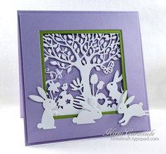 Easter Silhouette and Bunnies by kittie747 - Cards and Paper Crafts at Splitcoaststampers