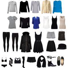 """""""Minimal Wardrobe Idea"""" by thegoldheart on Polyvore"""