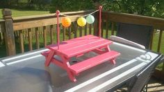 Doll picnic table!!! Ana White