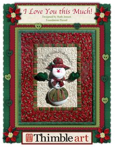 PP I Love You This Much!  3-D Snowmom Wallhanging 18'' x 22''