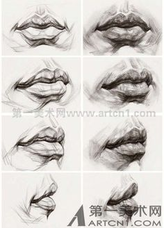 Pencil Portraits - Art Practice - Discover The Secrets Of Drawing Realistic Pencil Portraits.Let Me Show You How You Too Can Draw Realistic Pencil Portraits With My Truly Step-by-Step Guide.Email – marina com lippenciltutorialLips Drawing – 75 Pi Mouth Drawing, Life Drawing, Figure Drawing, Painting & Drawing, Drawing Style, Portrait Au Crayon, L'art Du Portrait, Pencil Portrait, Portraits