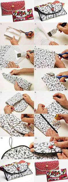 How to Turn a Milk Box into a Chic Wallet How to Turn a Milk Box into a Chic WalletRecycle the milk cartons and transform them into a pretty wallet. This creative idea is very simple Sewing Tutorials, Sewing Crafts, Sewing Projects, Sewing Patterns, Sewing Tips, Diy Wallet, Wallet Tutorial, Milk Carton Crafts, Milk Cartons