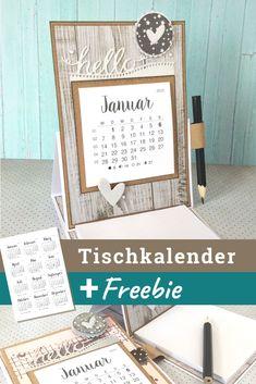 Desk calendar 2019 with notepad - Karten basteln - Card making Calendar Pages, Desk Calendars, Kalender Design, Diy Kalender, Fancy Fold Cards, Easel Cards, Card Making Techniques, Stamping Up, Cardmaking