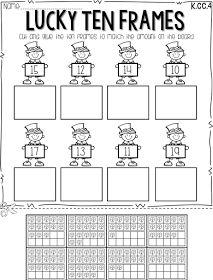 Math activities, fun math, elementary math, math classroom, classroom id Kindergarten Centers, Teaching Kindergarten, Preschool, Fun Math, Math Activities, Math Worksheets, Saint Patrick, St Patrick Day Activities, Teen Numbers