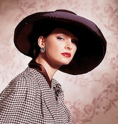 1930s Hats - or later? Houndstooth pattern was 50's?