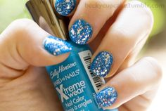 nails actually wearing this color(Blue me away) on my toes. dig it, no glitter!