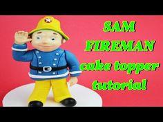 SAM THE FIREMAN CAKE TOPPER FONDANT TUTORIAL - VIGILE DEL FUOCO PASTA DI ZUCCHERO TORTA - YouTube