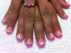 Like this pink too Solar Nail Designs, Nail Art Designs, French Tip Manicure, French Nails, Manicure Ideas, Nail Ideas, Solar Nails, French Nail Designs, Toenails
