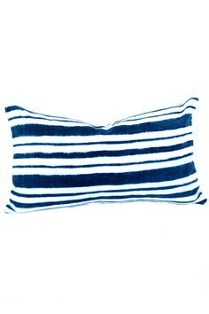 Indigo Striped Pillow