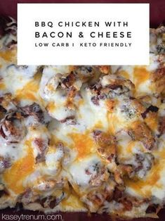 BBQ Chicken with bacon and cheese