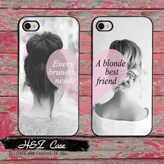 Find More Phone Bags & Cases Information about Set of 2 Every Brunette Needs A Blonde Best Friend Hard Mobile Phone Cases for iPhone 6 6 plus 5c 5s 5 4 4s Case Cover Couples,High Quality phone case make,China case fish Suppliers, Cheap phone case bling from H & Z on Aliexpress.com
