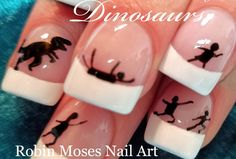 Easy Dinosaur Nail design that is inexpensive and fun. Cute Nail Art, Nail Art Diy, Easy Nail Art, Diy Nails, Christmas Nail Art Designs, Christmas Nails, Simple Nail Art Designs, Nail Designs, Nail Art Pictures