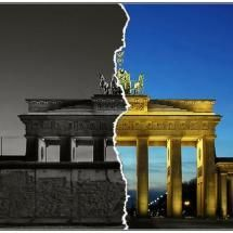 Map of Berlin Wall   big difference~with& without wall