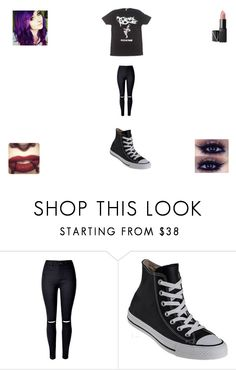 """More Merch"" by funny-babe02 on Polyvore featuring Converse and NARS Cosmetics"