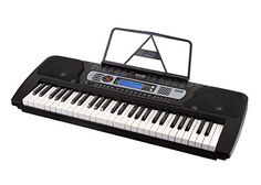 RockJam 54-Key Portable Electronic Keyboard with Interactive LCD Screen & Includes Piano Maestro Teaching App with 30 Songs - The Rock Jam RJ-654 54-Key Digital Piano Keyboard is perfect for aspiring pianists of all ages. This compact, portable, and high quality keyboard has built-in stereo speakers and a large, easy-to-read LCD screen, which serves as a great teaching tool. It addition, the super kit comes with 30 free...