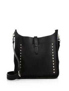 REBECCA MINKOFF Unlined Leather Feed Bag. #rebeccaminkoff #bags #shoulder bags #leather #crossbody Studded Leather, Pebbled Leather, Leather Crossbody, Crossbody Bag, Rebecca Minkoff Feed Bag, Feed Bags, Cheap Handbags, Louis Vuitton Handbags, Bag Sale