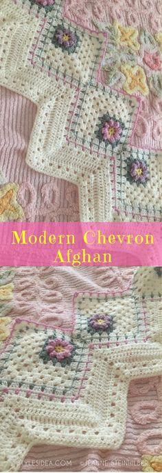 #Modern #Chevron #CrochetAfghan #FreeCrochetPattern