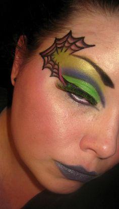 Spider Web Halloween Makeup!