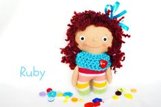 Rag doll cloth doll waldorf doll pocket by Fairybugcreativetoys Waldorf Dolls, Fabric Dolls, Softies, Handmade Crafts, Gifts For Kids, Holiday Gifts, Doll Clothes, Baby Kids, Best Gifts