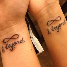 Married Couple Tattoos with Meaning   will love you until infinity runs out