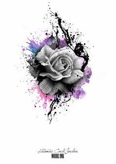 flower en ink tattoo - Google zoeken