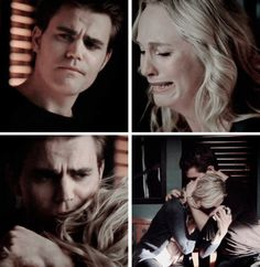 Stefan and Caroline. No one knows how sad this made me but how happy i was when Stefan was there to comfort Caroline.