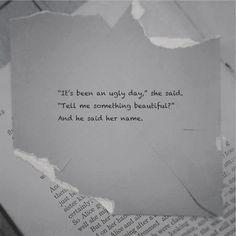 and he said her name....