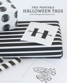 Printable Halloween Tags and Labels