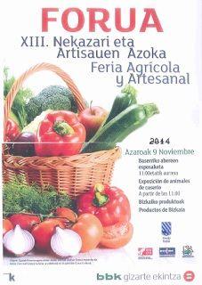 Ayuntamiento de Forua - XIII Feria Agrícola y Artesanal. Hoy Misasi estará presente en esta feria.