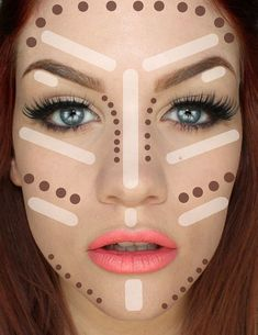 Contouring Tutorial: How To Make Face Look Slimmer. Best tips on how to achieve perfect looking foundation. Makeup Tricks and Beauty Ideas. | Makeup Tutorials http://makeuptutorials.com/5-tutorials-teach-make-face-look-thinner/ #FoundationMakeup