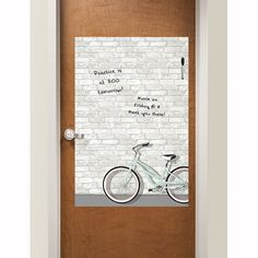 Never miss out with the stylish Enjoy the Ride Message Board, perfect for staying in touch even if you're not in your dorm