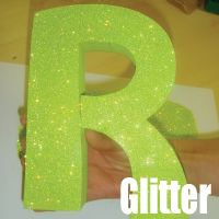 How to glitter wood items.