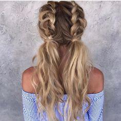Half Dutch braided pigtails