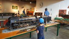 Musée de Vierzon. Modèle réduit d'une locomotive Mikado.