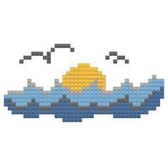 World Oceans Day Cross Stitch Cards, Cross Stitching, Cross Stitch Embroidery, Cross Stitch Patterns, Beading Patterns, Knitting Patterns, Ocean Day, Charts And Graphs, Pixel Art