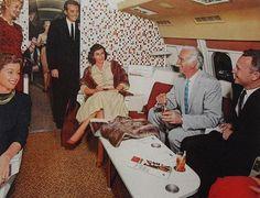 1950s Airplane First Class Lounge Interior Vintage Advertisement Men Women Fashion