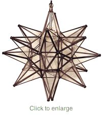 """$96 + free shipping   from Direct from Mexico  Tin un-frosted star pendant 15"""""""