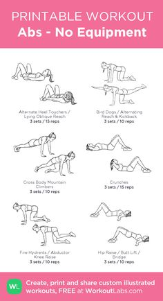 Very Sweaty Workout! (Please Comment): my custom printable workout by Daily Exercise Routines, Abs Workout Routines, Ab Workout At Home, At Home Workouts, Gym Core Workout, Morning Ab Workouts, Studio Workouts, No Equipment Workout, Workouts For Teens