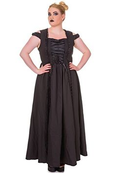 94cddd96217 Fashion Bug Plus Size Gothic Victorian Dark Side Raven Witch Black Long  Corset Lace up Party