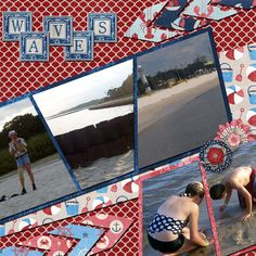 Pictures of a beach trip.  Kit used: Surf, Sand, and The Fourth Manu Scraps available at http://www.digitalscrapbookingstudio.com/promotions/featured-coordinated-collection/?subcats=Y&features_hash=S26