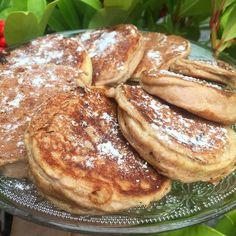 Jablkové bielkovinové palacinky na štíhlu líniu - Receptik.sk French Toast, Breakfast, Food, Morning Coffee, Meal, Essen, Hoods, Meals, Morning Breakfast