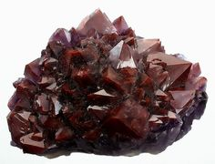 Amethyst red crystal cluster / Northern Ontario, Canada