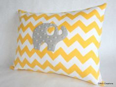 This is an adorable elephant nursery pillow cover made with premium 100% cotton flannel and luxuriously soft dimple dot minky fabric. This pillow