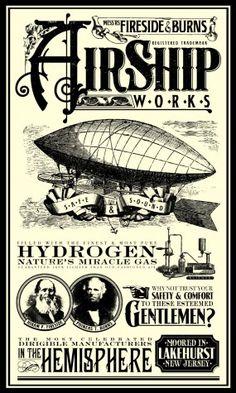 Vintage Advertisement - Airship Lakehurst, New Jersey Dirigible Steampunk, Steampunk Airship, Dieselpunk, Steampunk Fashion, Vintage Labels, Vintage Ephemera, Vintage Ads, Vintage Images, Vintage Posters