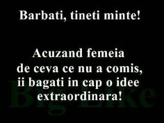 Acuzand femeia de ceva ce nu a comis, ii bagati in cap o idee extraordinara. Sarcastic Humor, Sarcasm, Favorite Quotes, Funny Quotes, Funny Pictures, Jokes, Messages, Thoughts, Feelings